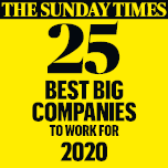 Halfords. The Sunday Times 25 Best Big Companies To Work For 2014.